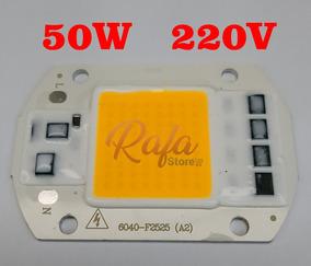 Super Power Led Cob 50w 220v Branco Quente 3500k 1 Unidade