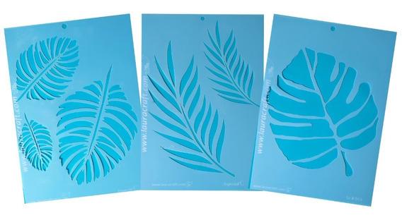 Stencil Laura Craft Linea Tropical Hojas Botanica
