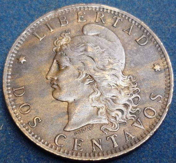 Argentina 2 Centavos Patacòn 1891 Var.cj# 32.11 Casi Sc.+