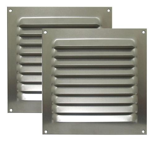 Kit 2 Grades De Ventilação Alumínio Itc 20x20cm C/tela