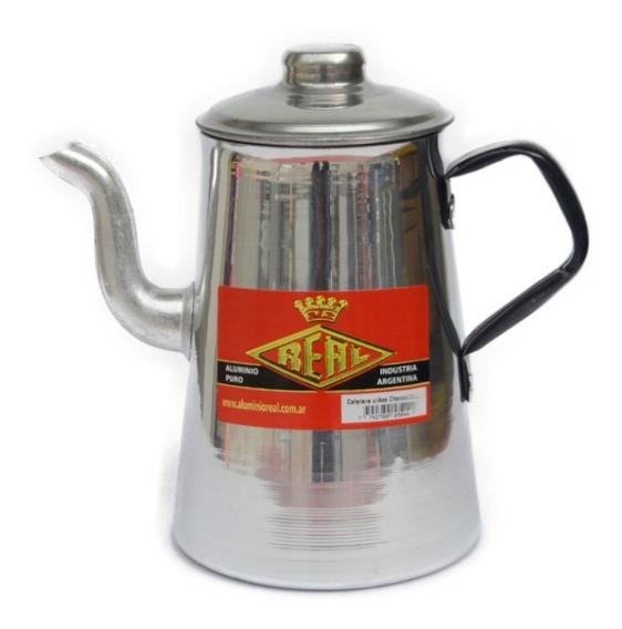 Cafetera De Aluminio Asa Charol - 1,5 Litros - Aluminio Real