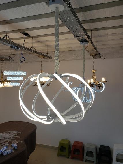 Lustre Pendente Iluminação Led Neon Amação Aluminio Bivolt