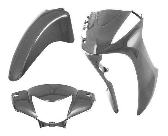 Kit Plástico Carenagem 3 Peças Honda Biz125 2011 Á 2013