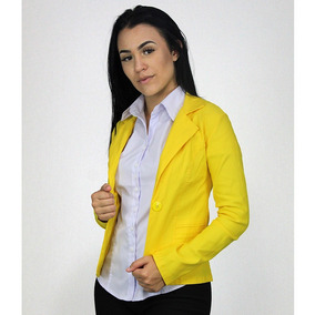 Blazer Feminino Liso Moda Linda Roupa Social Mulher Evang Cr