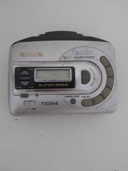 Walkman Aiwa Tx394 Ler Anúncio