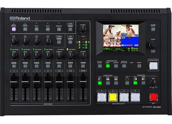 Mixer Audio Video Roland Vr 4hd Nf-e Garantia 1ano Vr-4hd