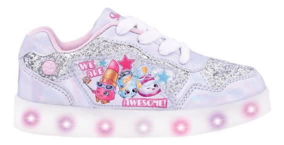 Zapatillas Shopkins Con Luz Led Recargable - Footy Oficial