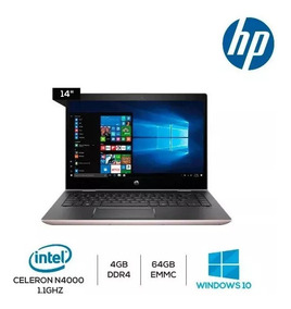Notebook Hp Intel 2.6 Ghz 4gb Ssd 64gb 14 Retro Iluminado