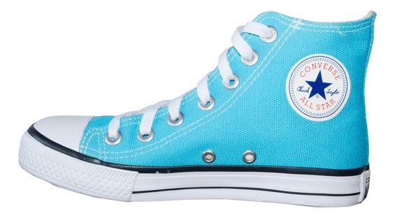 Tênis Converse All Star Cano Alto Azul Turquesa Infantil