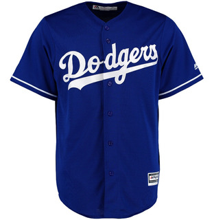 Camisola Majestic Cool Base La Dodgers Azul Jersey Béisbol Mlb