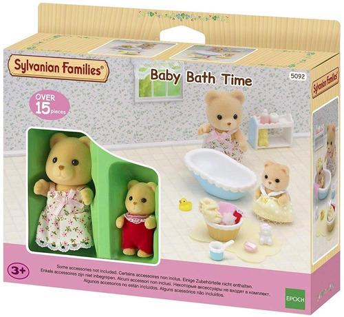 Muñecos Sylvanian Conjunto Baño Para Bebe Con Accs