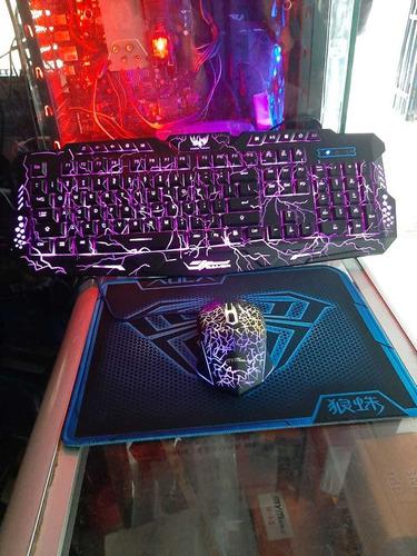 Combo Ultra Gamer Full Mouse+teclado+pad Gamer