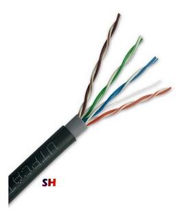 Cable Utp Exterior Cat5e 305mts Red Rj45 Camara Video Cctv
