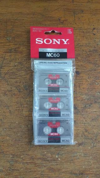 3 Fitas De Audio Microcassete K7 Cassete Sony