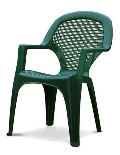 Silla Plástica Vie - Verde 55x41x80cm G P