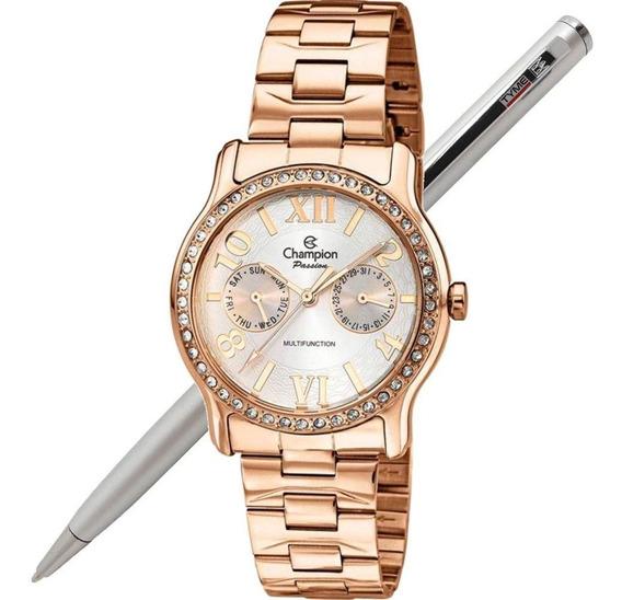 Relógio Champion Feminino Passion Ch38468z Multifunção - Nfe