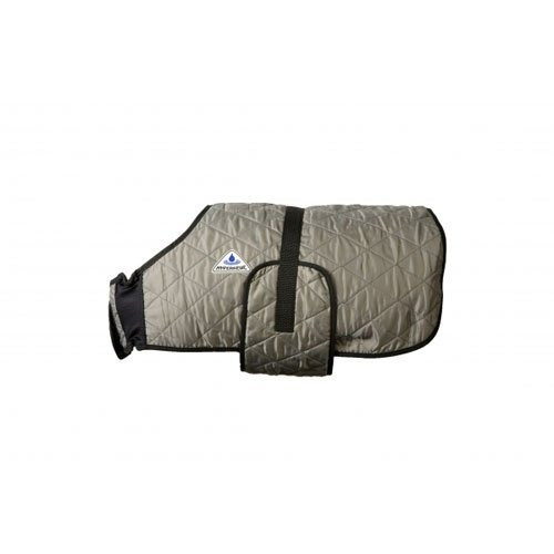 Hyperkewl Evaporative Cooling Dog Coat, Plateado, L