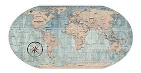 Painel Fotos Metálico Mapa Mundi + 6 Super Imãs Avião