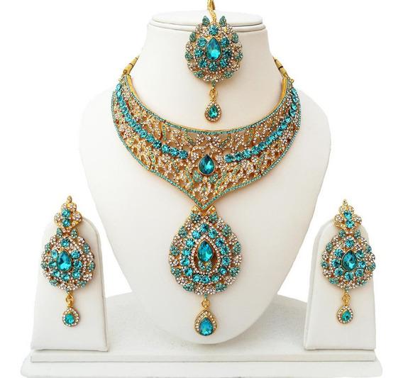 Joia Indiana Bollywood Designer Kundan Tikka Kit 3pcs #52