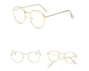 9516f311b Oculos Oval De Metal Dourado - Óculos no Mercado Livre Brasil