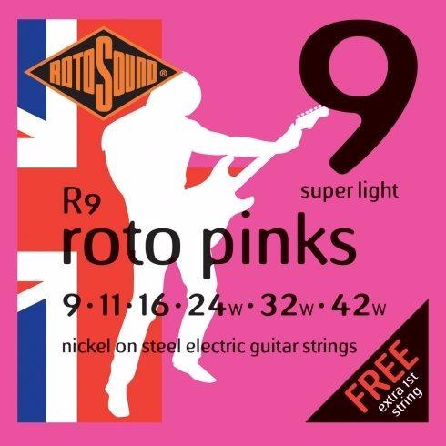 Cuerdas Guitarra Rotosound R9 09 11 16 24 32 42 1º Extra