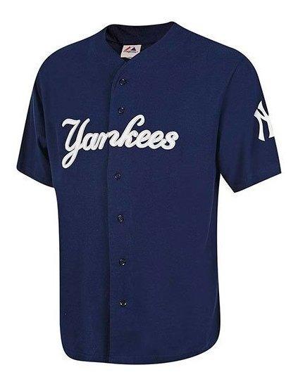 Playera Yankees Majestic Jersey Practica Base Mjrs-ny Impo19