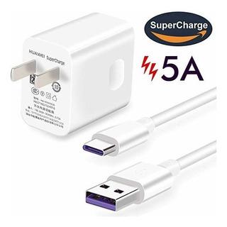 Cargador Huawei Original Supercharger + Cable Usb 5amp Tipo C P10 P20 P30 Mate 9 Mate 10 Carga Rapida