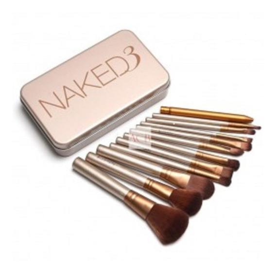Brochas Naked Set De 12 Brochas Maquillaje Efrata Mayor My