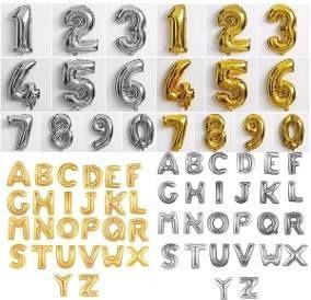 Globo Metalizado 2 Letras De 40 Cm Letras Numeros Venetech