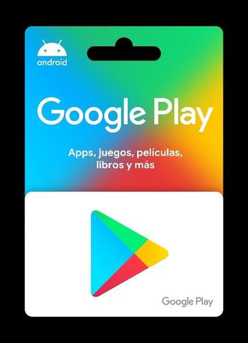 Imagen 1 de 1 de Tarjetas De Google Play $100:   1×$178