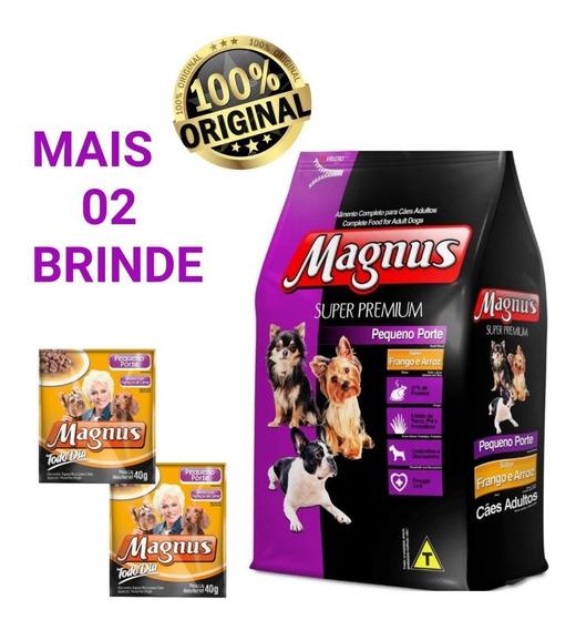 Magnus Pequeno Porte Super Premium Frango/arroz 15kg+ Brinde