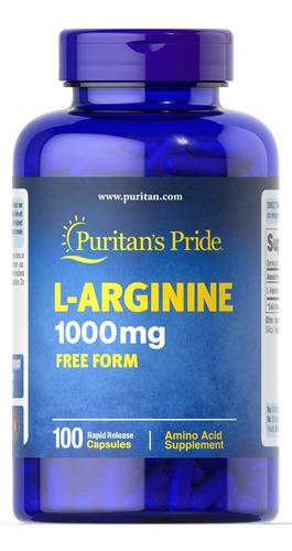 L-arginina 1000mg X100 Caps. - Energía, Músculo, Sist Inmune