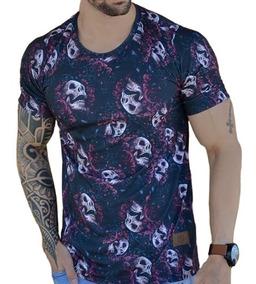 Camiseta Camisa Blusa Oversized Longline Masculina Floral