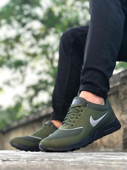 Zapatos Tenis Nike Air Max Thea Verde Hombre + Envio Gratis