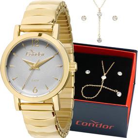 Kit Relógio Condor Feminino Barato Garantia Co2035knb/k4c