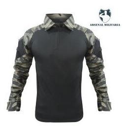 Camisa Combat Shirt Tatica Reforçada Ripstop Bike Motocross