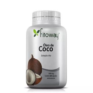 Oleo De Coco Fitoway 1.000mg - 60 Capsulas Original
