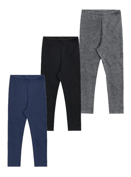Calça Infantil Menina Leg Brandili Kit Com 3 Calças Tam 1