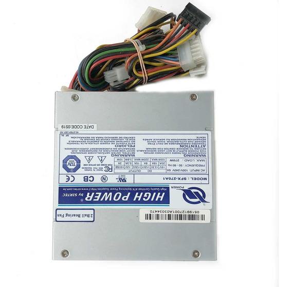 Fonte Mini Atx 270w High Power Sfx-270a1 Com Garantia