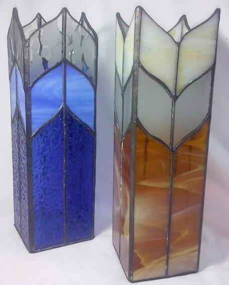 Floreros O Jarrones De Decoracion En Vitraux Diseño Tiffany