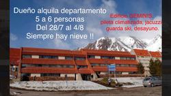 Geminis Las Leñas. Dpto 5 Ó 6 Pers. Del 28/7 Al 4/8 Alquiler