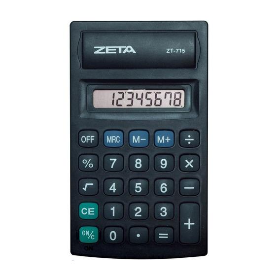 Calculadora Pessoal Zeta Zt715 8 Digitos