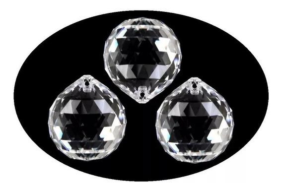 Kit 50 Bolas Esferas Facetada Cristal Acrílico 18mm Lustres