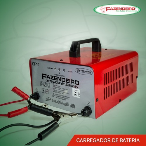 Carregador De Baterias Bivolt 12v 10a Fazendeiro Cf10