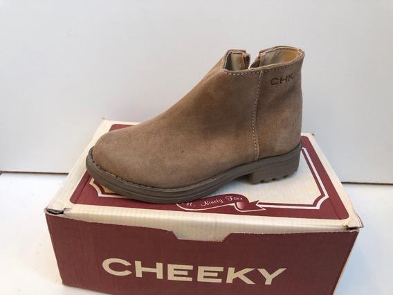 Botita Cheeky De Cuero Con Cierre (mercadería De Segunda)
