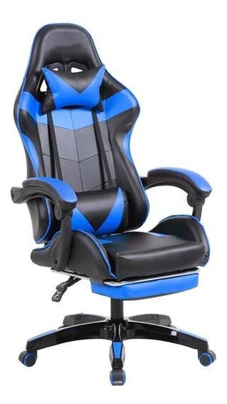 Cadeira Gamer Azul - Pctop Jx-1039b