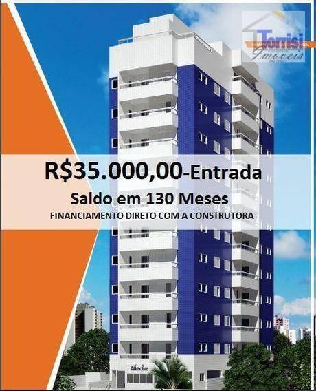 Apartamento Em Praia Grande, 02 Dormitórios Sendo 01 Suite,, Guilhermina, Ap2528 - Ap2528