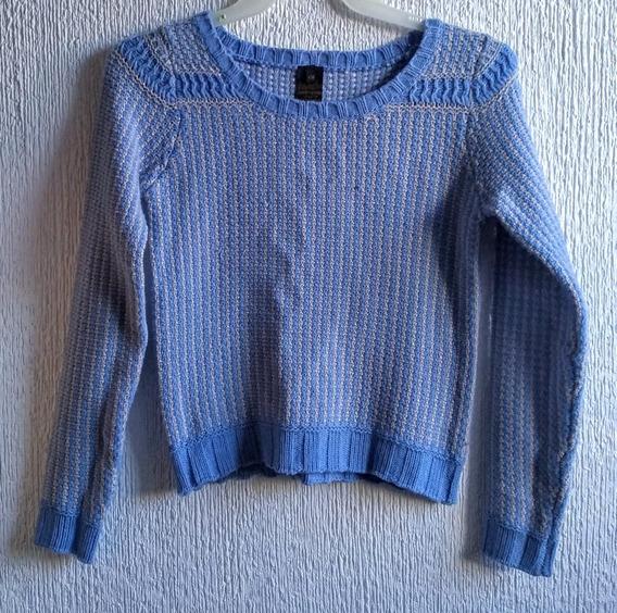 Sweater Color Azul Y Gris