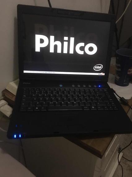 Notebook Philco Usado Com Defeito Trava Da Tela E Não Segur
