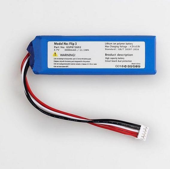 Bateria Caixa De Som Jbl Flip 3 3000mah Modelo Gsp872693